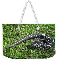 Slimy Salamander Weekender Tote Bag by Ted Kinsman