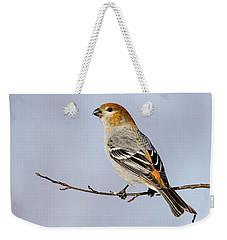 Female Pine Grosbeak Weekender Tote Bag by Doug Lloyd