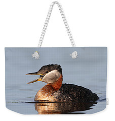 Rednecked Grebe Weekender Tote Bag