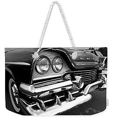 58 Plymouth Fury Black And White Weekender Tote Bag