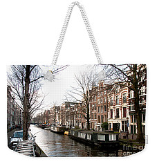 Weekender Tote Bag featuring the digital art City Scenes From Amsterdam by Carol Ailles