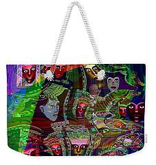 636 - People Masks Weekender Tote Bag