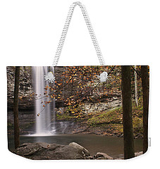 Waterfall Weekender Tote Bag by David Troxel