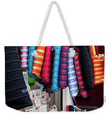 Weekender Tote Bag featuring the photograph A Brand New Bag by Lorraine Devon Wilke
