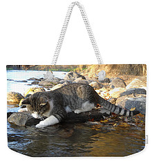 A Cat Goes Fishing Weekender Tote Bag by Kent Lorentzen