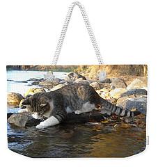 A Cat Goes Fishing Weekender Tote Bag