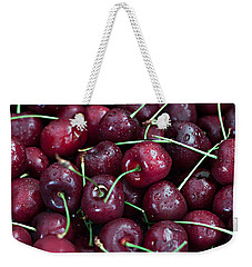 Weekender Tote Bag featuring the photograph A Cherry Bunch by Sherry Hallemeier