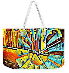 A Colored Wind Blew Weekender Tote Bag