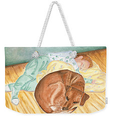 A Dog And Her Boy Weekender Tote Bag