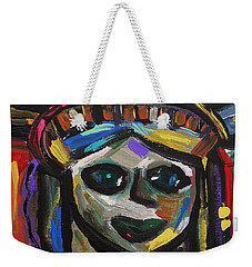 Weekender Tote Bag featuring the painting A Face Of Freedom by Mary Carol Williams