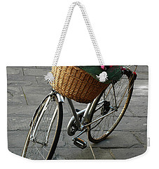 Weekender Tote Bag featuring the photograph A Flower Delivery by Vivian Christopher