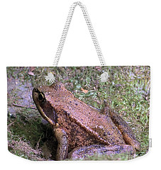 A Friendly Frog Weekender Tote Bag by Chalet Roome-Rigdon