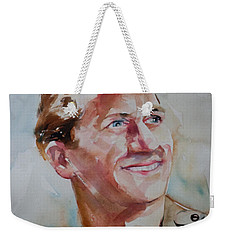 Weekender Tote Bag featuring the painting A Great Man by Barbara McMahon