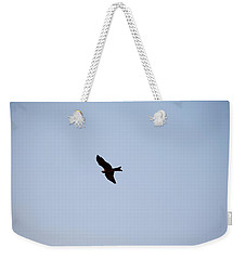 Weekender Tote Bag featuring the photograph A Kite Flying High In The Sky by Ashish Agarwal