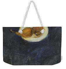 Weekender Tote Bag featuring the painting A Pair by Kathleen Grace