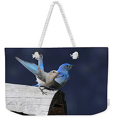 A Pair Of Bluebirds Weekender Tote Bag