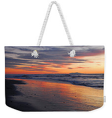 Weekender Tote Bag featuring the photograph A Passion For Purple by Lynn Bauer
