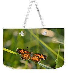 Weekender Tote Bag featuring the photograph A Pearl In The Grass by JD Grimes