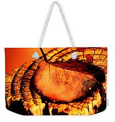 Weekender Tote Bag featuring the photograph A Pose For Fall by Jessica Shelton