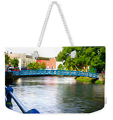 Weekender Tote Bag featuring the photograph A River Runs Through It by Charlie and Norma Brock