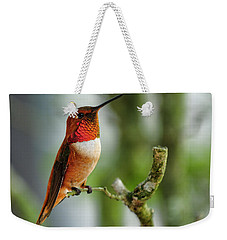 A Rufous Hummingbird Perched Weekender Tote Bag