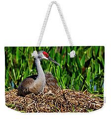 A Sandhill Crane Nesting Weekender Tote Bag
