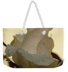 A Single White Rose Weekender Tote Bag