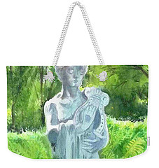 Weekender Tote Bag featuring the painting A Statue At The Wellers Carriage House -4 by Yoshiko Mishina
