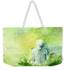 Weekender Tote Bag featuring the painting A Statue At The Wellers Carriage House -5 by Yoshiko Mishina