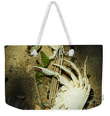 Weekender Tote Bag featuring the photograph A Time To Shed by Rebecca Sherman