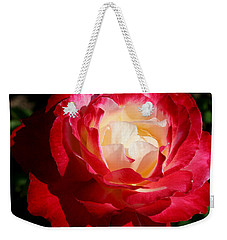 Weekender Tote Bag featuring the photograph A Unique Rose by Karen Harrison