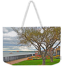 Weekender Tote Bag featuring the photograph A View From The Garden by Michael Frank Jr