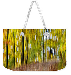 A Walk In The Woods Weekender Tote Bag by Susan Leggett