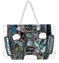Weekender Tote Bag featuring the photograph Abalone Mayan Mask by Shawn O'Brien