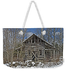 Abandoned House In Snow Weekender Tote Bag by Susan Leggett