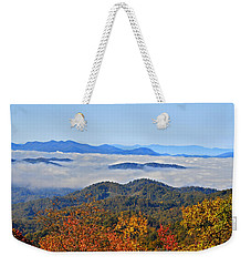 Above The Clouds Weekender Tote Bag by Susan Leggett