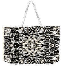 Abstract Cubes Weekender Tote Bag by Susan Leggett