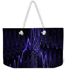 Abstract Digital Blue Waves Fractal Image Black Computer Art Weekender Tote Bag