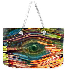 Abstract Eye Weekender Tote Bag by Susan Leggett