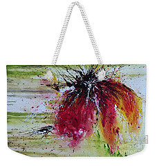 Abstract  Flower Weekender Tote Bag by Ismeta Gruenwald