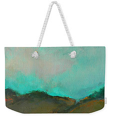 Abstract Landscape - Turquoise Sky Weekender Tote Bag