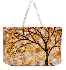 Abstract Modern Tree Landscape Dreams Of Gold By Amy Giacomelli Weekender Tote Bag