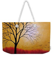 Abstract Original Tree Painting Summers Anticipation By Amy Giacomelli Weekender Tote Bag