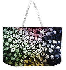 Weekender Tote Bag featuring the photograph Abstract Straws by Steve Purnell