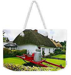 Weekender Tote Bag featuring the photograph Adare Cottage by Charlie and Norma Brock