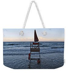 Weekender Tote Bag featuring the photograph Alassio Sunset Facing East by Andy Prendy