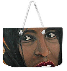 Weekender Tote Bag featuring the painting Alem E. W. by Anna Ruzsan