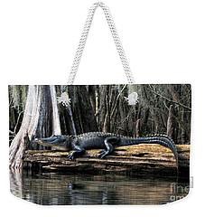 Alligator Sunning Weekender Tote Bag