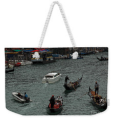 Along The Canal Weekender Tote Bag by Vivian Christopher