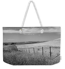 Weekender Tote Bag featuring the photograph Along The Line by Kathleen Grace